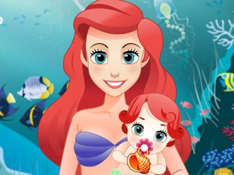 Mermaid Ariel Gives Birth