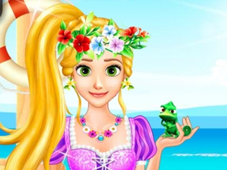 Rapunzel's Beach Day