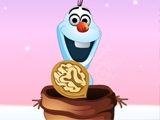 Olaf Catching Nuts