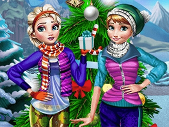 Anna and Elsa Holiday Fun