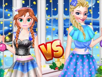 Elsa VS Anna Christmas Tree