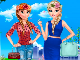 Anna and Elsa Spring Day