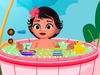 Baby Princess Moana Shower Bath