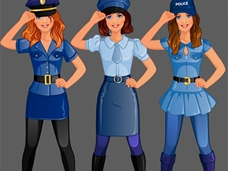 Police Girl Fashion