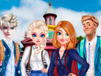 Frozen Family Go To College