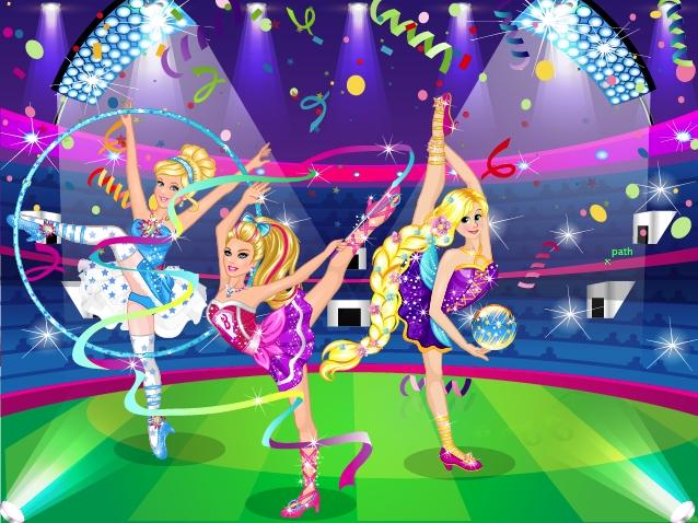 Super Barbie Gymnastics Contest