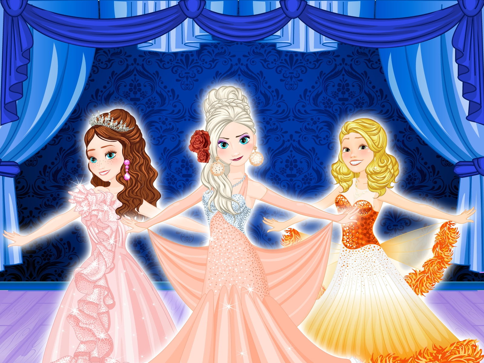Online igrica Four Dances with Princesses