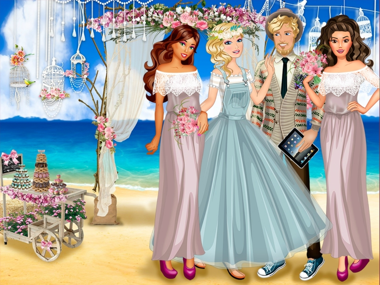 Magnificent Wedding Dress Up Games Sketch - All Wedding Dresses ...
