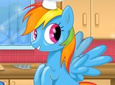 Rainbow Dash Party Prep
