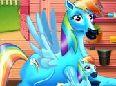 Rainbow Dash And Her Baby