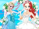Elsa at Ariel's Wedding