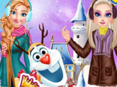 Princess And Olaf's Winter Style