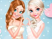 Anna And Elsa Glittery Bridesmaids